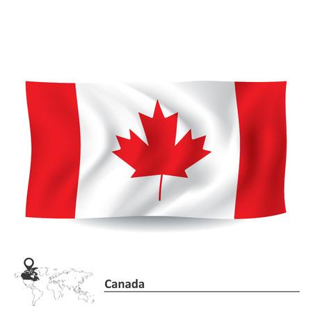 terranova: Flag of Canada - illustrazione vettoriale