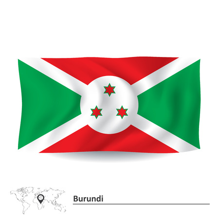 burundi: Flag of Burundi - vector illustration Illustration