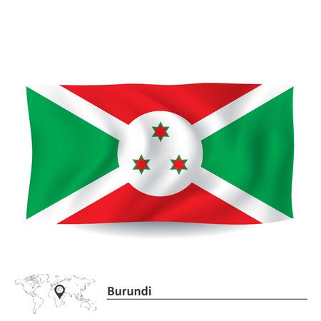 Flag of Burundi - vector illustration Illustration