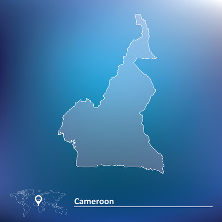 cameroon: Map of Cameroon - vector illustration