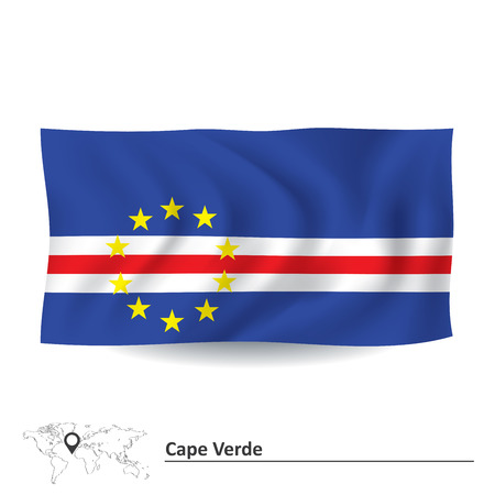 verde: Flag of Cape Verde - vector illustration