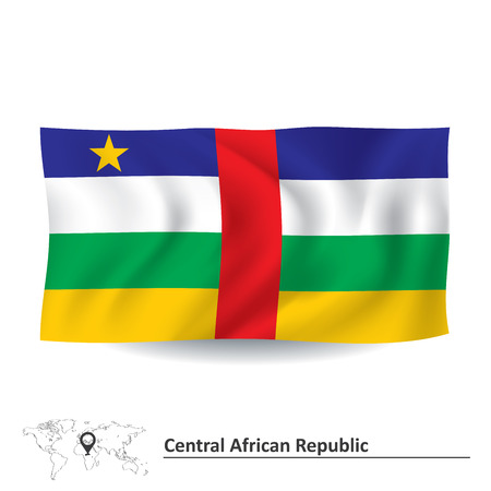 central african republic: Flag of Central African Republic - vector illustration