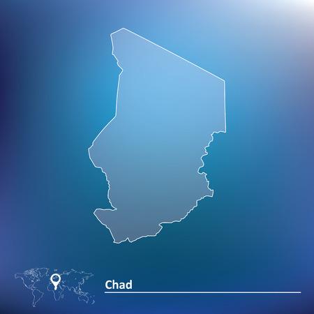 chadian: Map of Chad - vector illustration