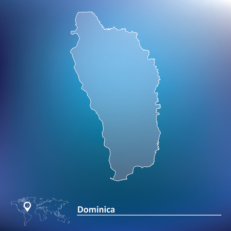 dominica: Map of Dominica - vector illustration Illustration