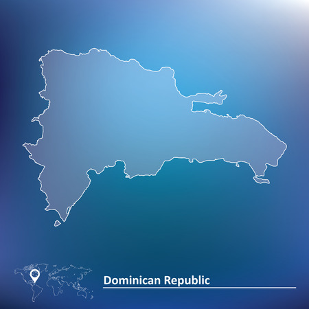 Map of Dominican Republic - vector illustration Vector