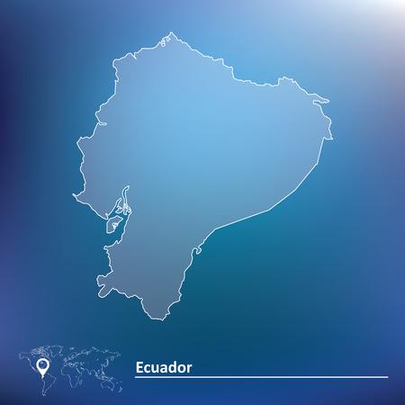 republic of ecuador: Map of Ecuador - vector illustration