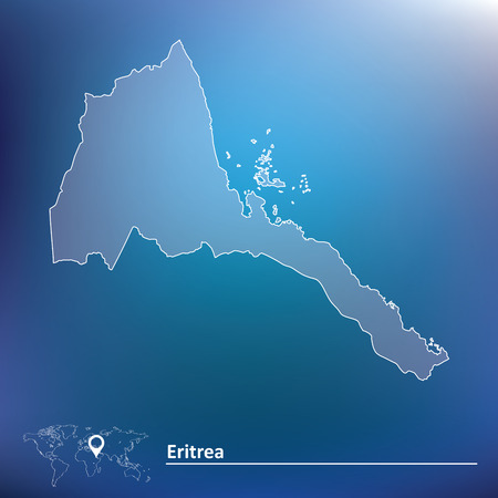 eritrea: Map of Eritrea - vector illustration Illustration