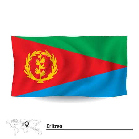 eritrea: Flag of Eritrea - vector illustration Illustration