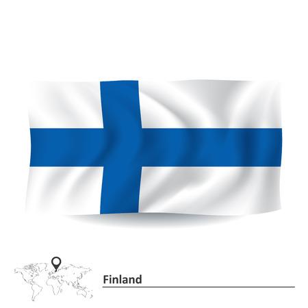 suomi: Flag of Finland - vector illustration