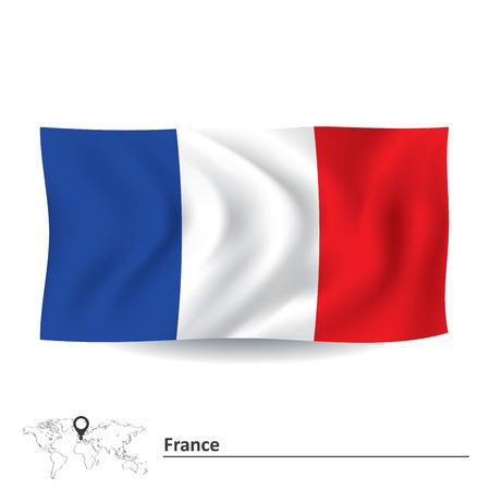 Flag of France - vector illustration