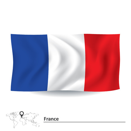 Flag of France - vector illustration