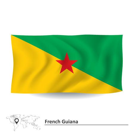 french flag: Flag of French Guiana - vector illustration Illustration
