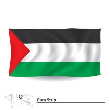 gaza: Flag of Gaza Strip - vector illustration