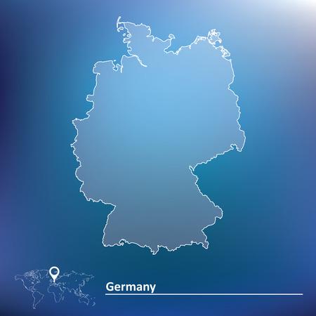 Carte de l'Allemagne - illustration vectorielle