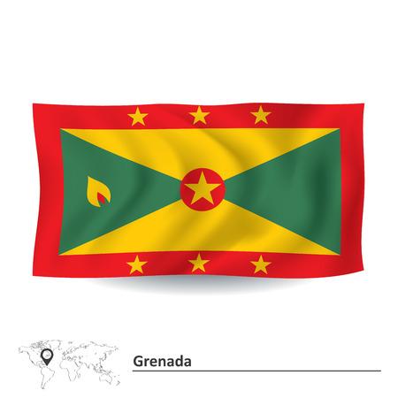 grenada: Flag of Grenada - vector illustration