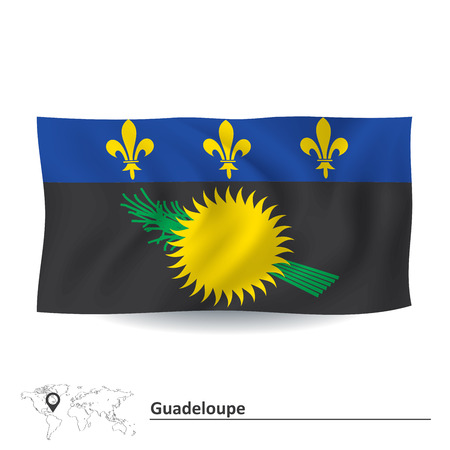 french fancy: Flag of Guadeloupe - vector illustration