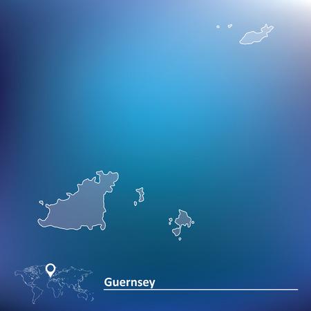 Map of Guernsey - vector illustration