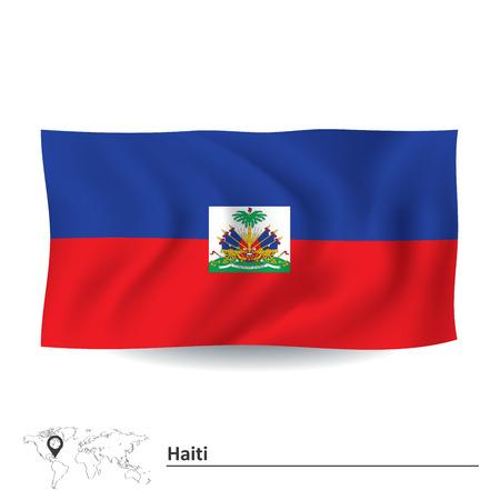 haiti: Flag of Haiti - vector illustration