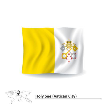 Flag of Vatican - vector illustration Vector