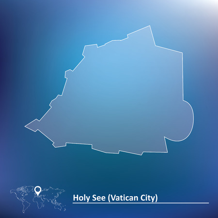 vatican city: Map of Vatican - vector illustration