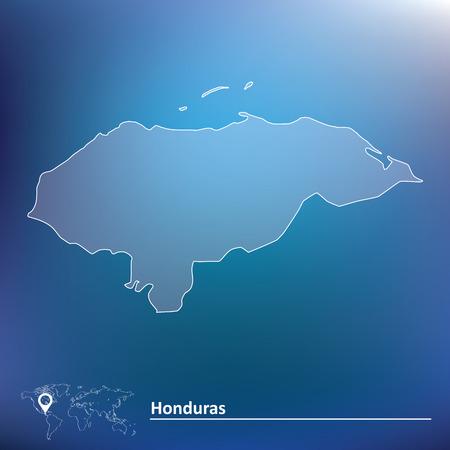 Map of Honduras - vector illustration