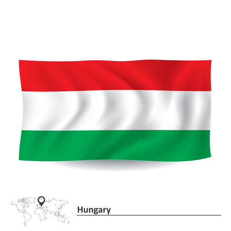 graphical chart: Flag of Hungary - vector illustration