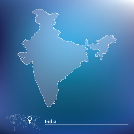 map of india: Map of India - vector illustration Illustration