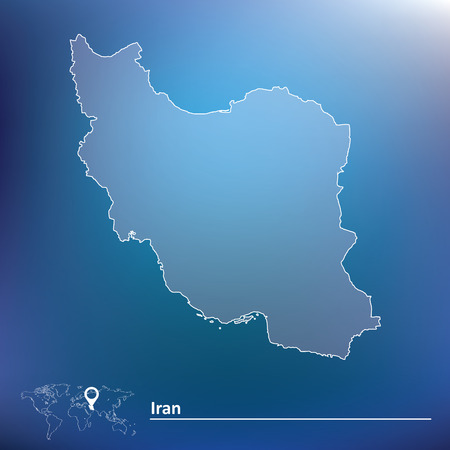 iran: Map of Iran - vector illustration Illustration