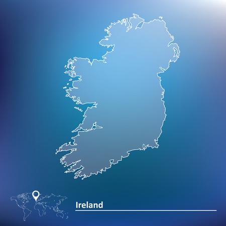 Map of Ireland - vector illustration Vector