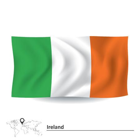 Flag of Ireland - vector illustration Vector