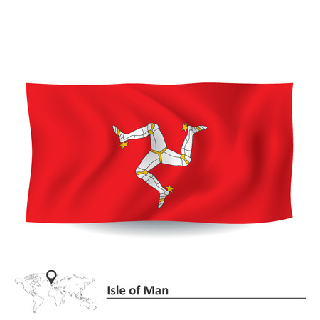 british isles: Flag of Isle of Man - vector illustration
