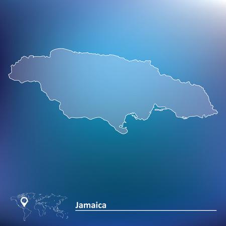 Map of Jamaica - vector illustration Vector