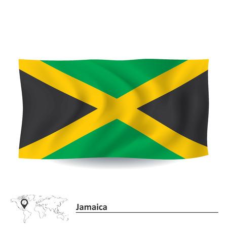 Flag of Jamaica - vector illustration Vector