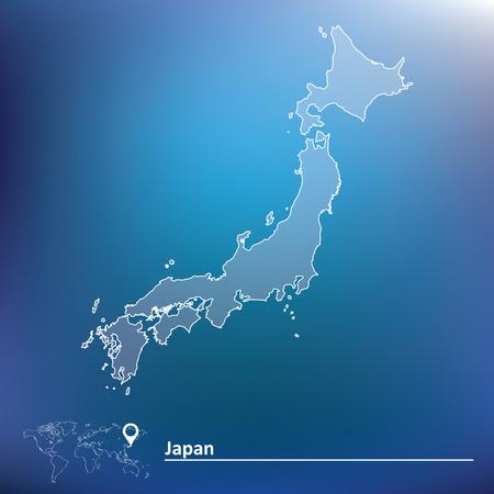 Map of Japan - vector illustration