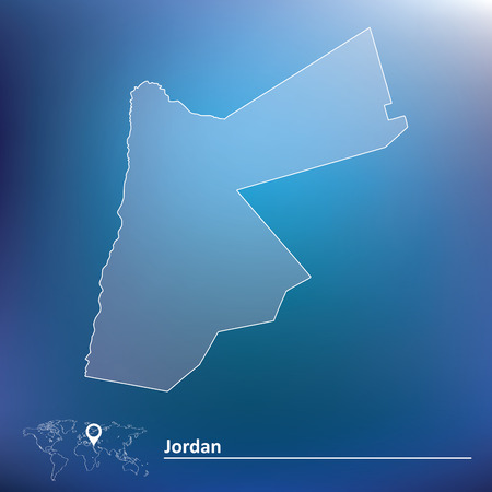 jordan: Map of Jordan - vector illustration