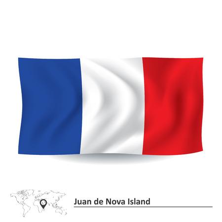 nova: Flag of Juan de Nova Island - vector illustration
