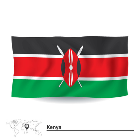 kenya: Flag of Kenya - vector illustration
