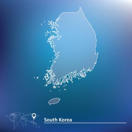 Map of South Korea - vector illustration Vector