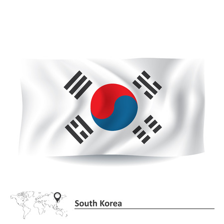 korea: Flag of South Korea - vector illustration