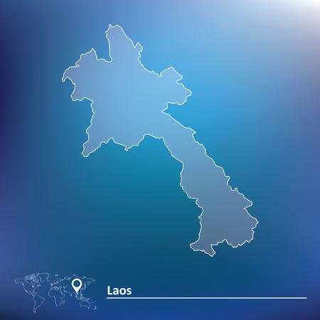 laos: Map of Laos - vector illustration Illustration