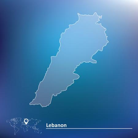 lebanon: Map of Lebanon - vector illustration