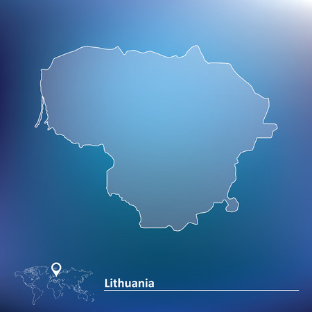 lithuania: Map of Lithuania - vector illustration