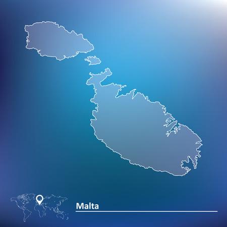 maltese map: Map of Malta - vector illustration