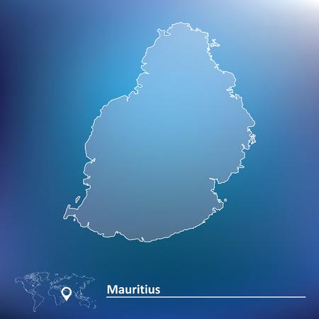 mauritius: Map of Mauritius - vector illustration Illustration