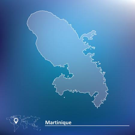 martinique: Map of Martinique - vector illustration Illustration