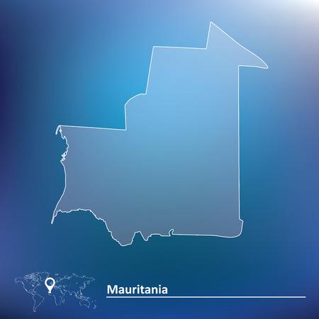 mauritania: Map of Mauritania - vector illustration