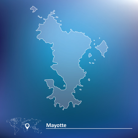 mayotte: Map of Mayotte - vector illustration Illustration