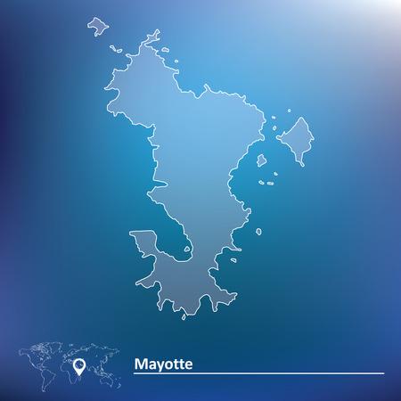 mayotte: Map of Mayotte - vector illustration Illustration