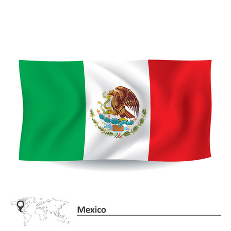 united states flag: Flag of Mexico - vector illustration