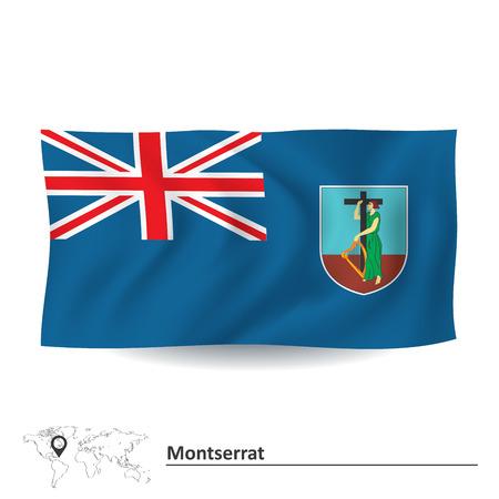 Flag of Montserrat - vector illustration Vector